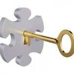 Key in jigsaw lock small